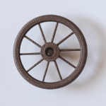 bicycle wheel knob front view