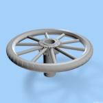 bicycle wheel knob 3d sketch